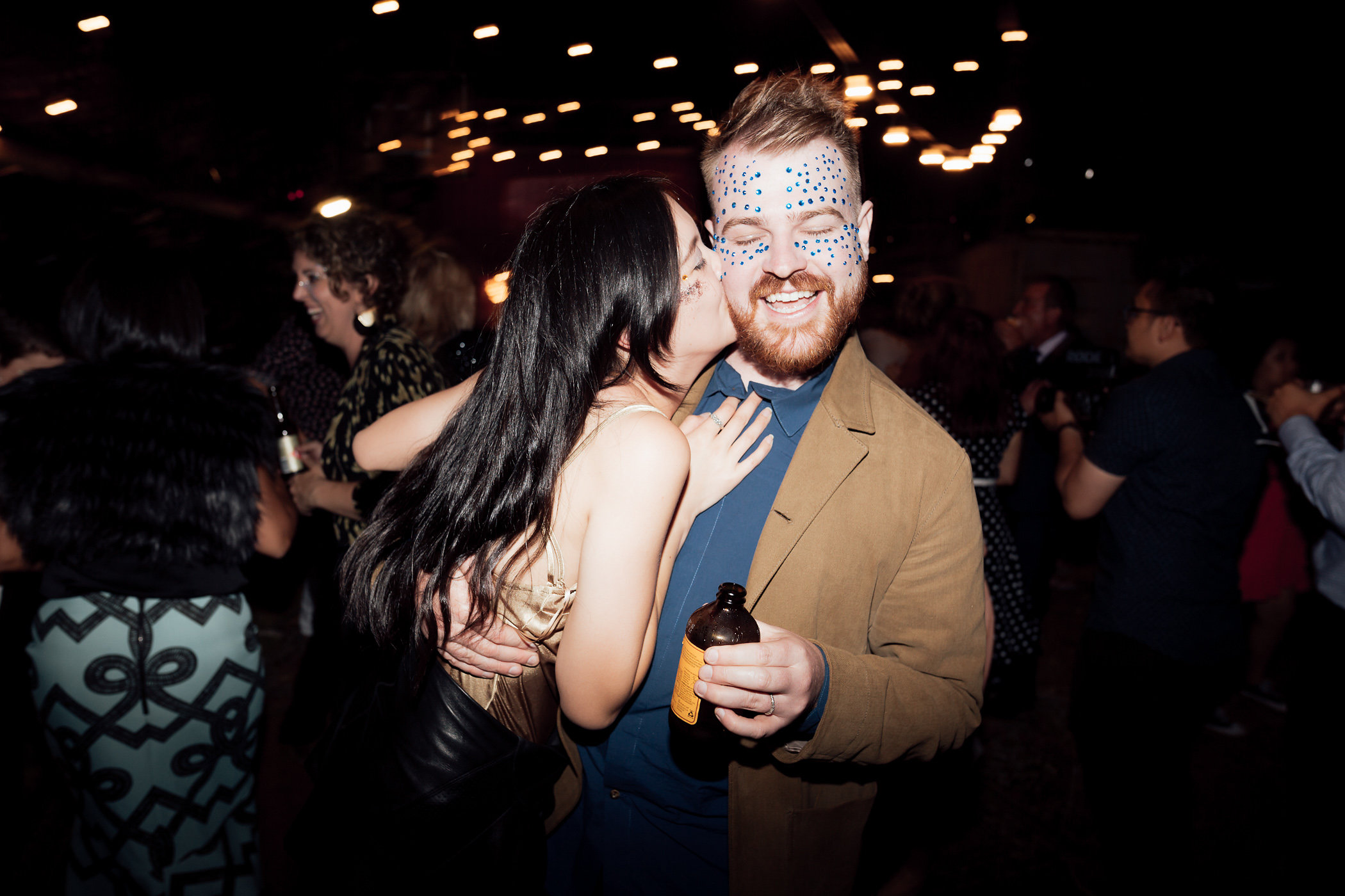 glitter bar wedding