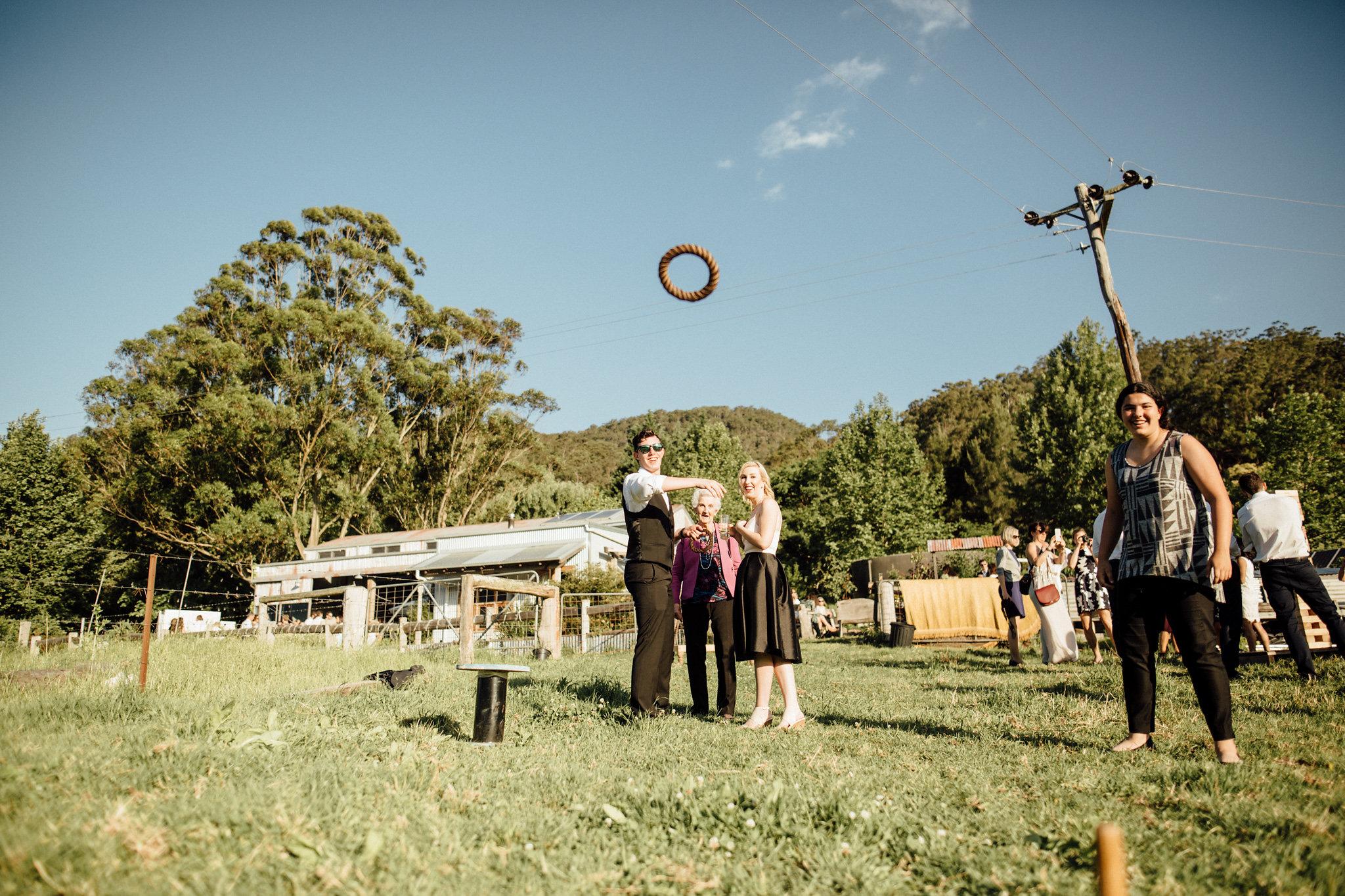 lawn games at a wedding